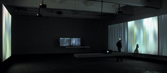 Andrew Stones - 'Atlas'. Video/audio installation, Chisenhale Gallery London and Charlottenborg Copenhagen 2004.
