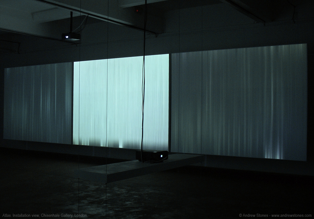 Andrew Stones - 'Atlas' - Installation with video and audio, Chisenhale Gallery London.