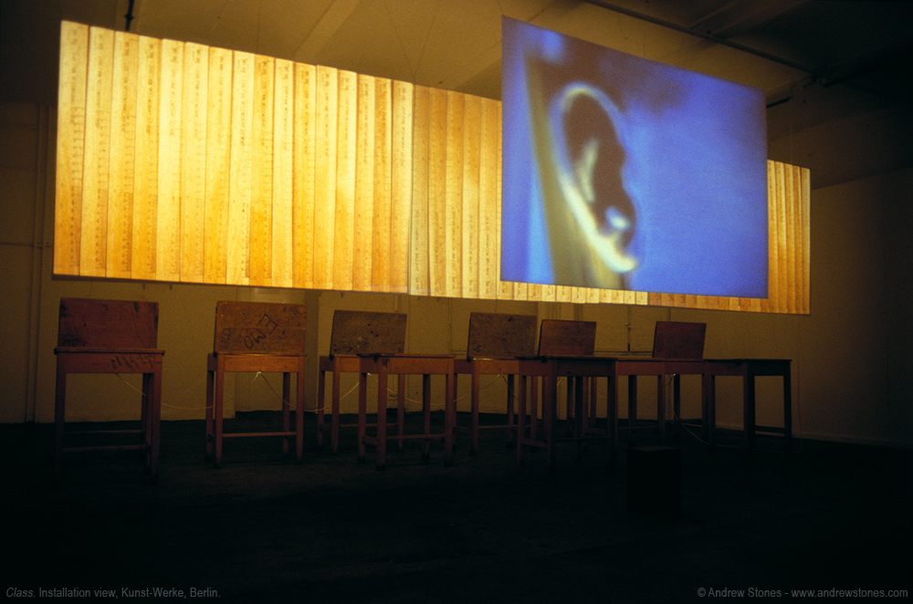 Andrew Stones - 'Class' - Installation with video and mixed media by Andrew Stones. Version: Kunst-Werke, Berlin.