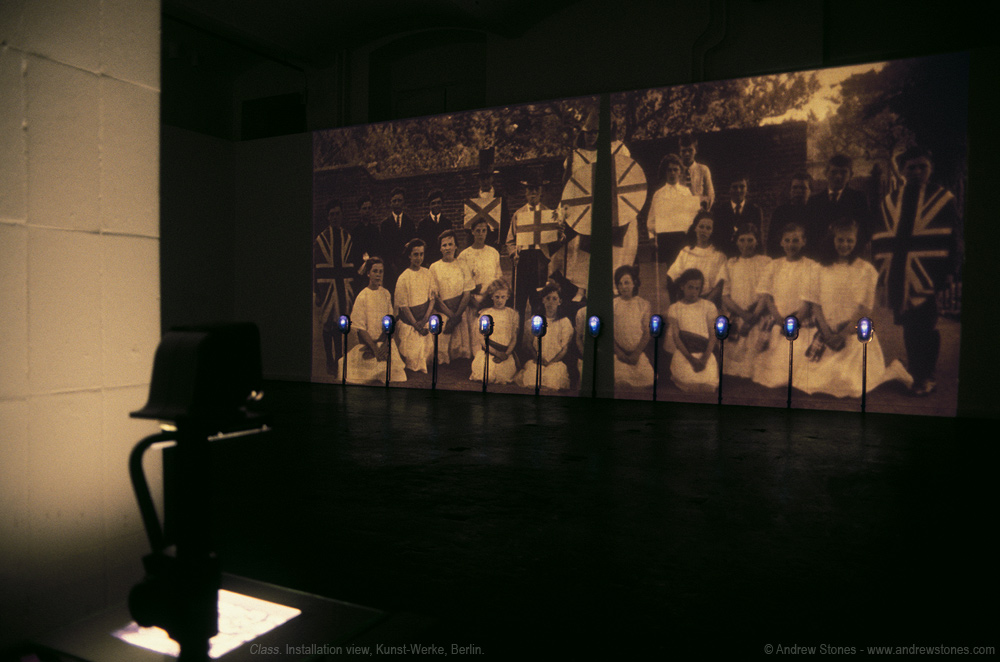 Andrew Stones - 'Class' - Installation with video and mixed media by UK artist Andrew Stones. Version: Kunst-Werke, Berlin.
